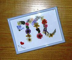 Quadretto con fiori secchi