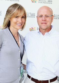 EGPAF Board of Directors co-chair Willow Bay with EGPAF President and CEO Charles Lyons. #atfh