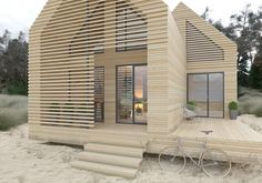by genna margolis ( Architecture Durable, Architecture Renovation, Sustainable Architecture, Architecture Design, House Cladding, Chalet Design, Portable House, Micro House, Tiny House Cabin
