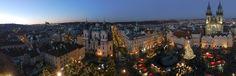 Praga - Panorama dalla Torre dell' orologio