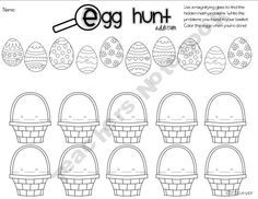 Egg Hunt- Addition and Subtraction