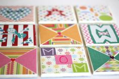 Kid Made Tile Coasters- a great Mother's Day or Teacher Appreciation gift idea. This is such a fun way to practice creating patterns/designs too! What would your child want to write or design on a coaster for you?