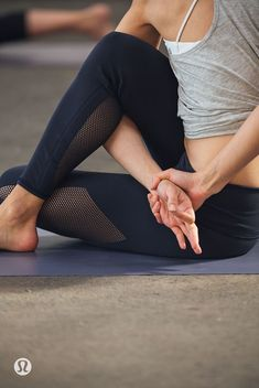 Seated twist with a bind. Loving this pose. One of the 12 osteoporosis vs yoga poses for easing osteoporosis, osteopenia, or just keeping the bone health that you currently have! Yoga with Gail to learn the script for building bone! Yoga Flow, Sanftes Yoga, Mat Yoga, Yoga Nidra, Yoga Moves, Ashtanga Yoga, Yoga Sequences, Yoga Meditation, Vinyasa Yoga