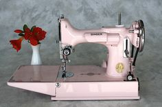 Singer 221 Featherweight....I have a Featherweight....but it's not pink, would love to have this one!