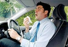 Getting behind the wheel when bunged up with a cold is far more dangerous than drivers realise, researchers say. Sneezing, searching for a tissue and nose blowing are to blame for 2,500 accidents a week in winter. It's most hazardous on the motorway as drivers can travel 50ft with their eyes closed during a sneeze!