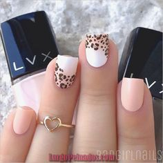 50 Leopard Nail Art Ideas-Leopard prints are a trend nowadays. From clothes to shoes to bags and even to nail art designs, they have been… Great Nails, Simple Nails, Cute Nails, Leopard Nail Art, Leopard Print Nails, Leopard Prints, Animal Prints, Leopard Nail Designs, Nail Art Designs 2016