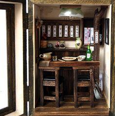 Vintage pub house (N0.1)-Country small bar -handmade Dollhouse Miniatures. $349.00, via Etsy.