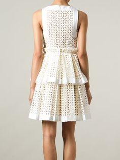 laser cut box pleat dress