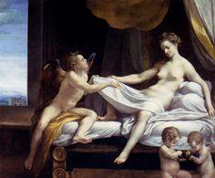 Danae, olio su tela, Correggio, 1531-1532 circa, Galleria Borghese, Roma.