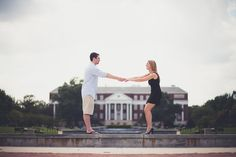 Jenna & Matthew's Nostalgic Engagement Session at the University of Maryland