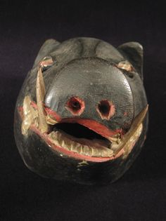 Indonesian Masks | Indonesian Tribal Art - Boar mask, Indonesia, snout