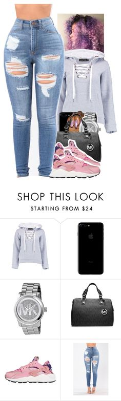 """Untitled #1891"" by toniiiiiiiiiiiiiii ❤ liked on Polyvore featuring Boohoo, Michael Kors, MICHAEL Michael Kors and NIKE"