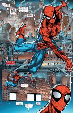 Web-slinging Spider-Man in Amazing Spider-Man #16.1