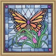 COUPON  Cross Stitch Kit  Monarch Butterfly by CrossStitchKitsOnly, $31.00