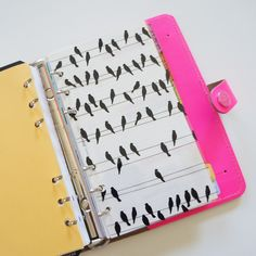 Width: 3.75 inchesHeight: 6.75This size is a full sheet of a standard Personal/Compact size sheet of paper. It is made of Hambly Screenprint and can be used to adhere post-it notes or as a divider for your filofax.Fits the personal and compact size Filofaxes.