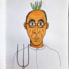 Entry to daily drawing challenge. Inspired by American Gothic. Made by Kasper Taal American Gothic, Alcohol Markers, Daily Drawing, Drawing Challenge, Moleskine, Doodles, Inspired, Drawings, Funny