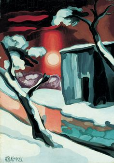 Oscar Bluemner, Last Evening of the Year, c.1929 31.115 color theory-grade 6/7