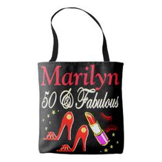 RED 50 AND FABULOUS PERSONALIZED TOTE BAG http://www.zazzle.com/jlpbirthday/gifts?cg=196128245923858498&rf=238246180177746410