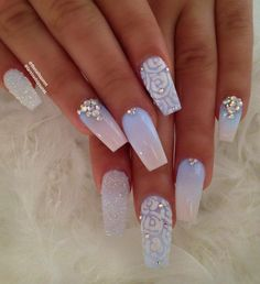 """3,233 Likes, 35 Comments - CamilaWESLEY CHAPEL, FL (@thenailsqueen) on Instagram: """"Glow in the dark nails Follow me on snapchat TheNailsQueen / Los invito a que me sigan en snapchat…"""""""