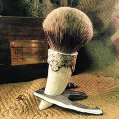 """Old Thunder"" Limited Edition Custom Shaving Brush - The Holy Black Trading Co  - 1"