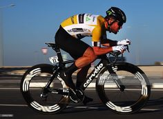 Mark Cavendish of Great Britian and Dimension Data in action on stage three of the 2016 Tour of Qatar, a 11.4km Individual Time Trial, at Lusail International Circuit on February 10, 2016 in Doha, Qatar. #TOQ2016 #rm_112