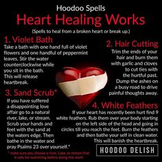 Healing and Dealing Hoodoo Spells, Magick Spells, Healing Spells, Healing Words, Healing Heart, Wiccan Spell Book, Witch Spell, Voodoo Hoodoo, Witchcraft For Beginners