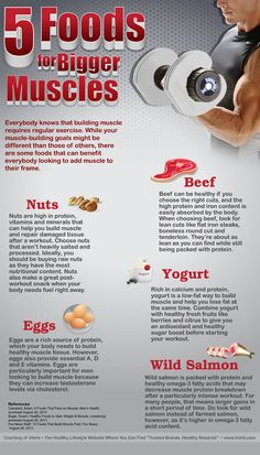 5 Foods for Bigger Muscles  (Infographic)