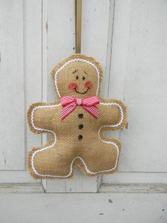 Burlap+Gingerbread+Boy+Wallhanging+by+20northora+on+Etsy,+$15.00
