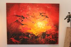 """This beautifull Painting is created by Helga Anders-Faber. """" Begegungen"""" is 100x80cm."""