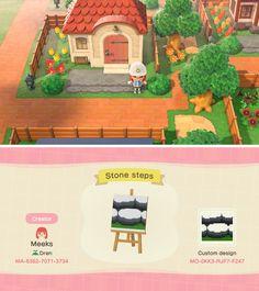 Animal Crossing Qr Codes, Animal Crossing Game, Animal Games, My Animal, Stone Path, Stone Steps, Brick Path, Path Design, Border Design