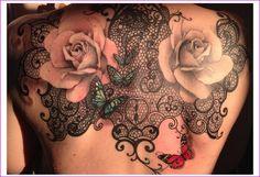 tatouage dentelle cote - Recherche Google