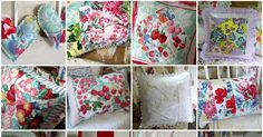 Made from vintage tablecloths