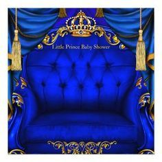 Purple And Gold Wedding, Royal Blue And Gold, Blue Gold, Happy Birthday Sister, Blue Birthday, Tea Party Baby Shower, Baby Boy Shower, Royal Baby Showers, Elegant Baby Shower