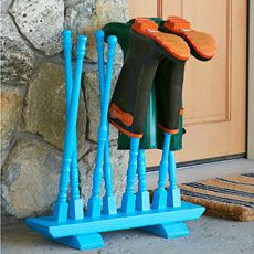 Boot Rack Stand Tutorial via This Old House #thisoldhouse