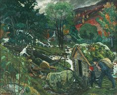 Fascinating exhibit of the paintings of Norwegian artist Nikolai Astrup (1880–1928) at Dulwich Picture Gallery in London.
