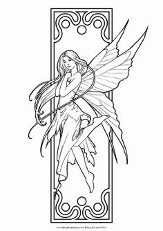 Fairy Art Adult Coloring Book | Fairy art, Adult coloring and ...