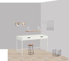 Un escritorio en la habitación, decoración nórdica en MotasdeLana