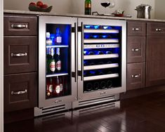 """Wine Cooler for Both Wine and Beer: True Professional Series 15""""  Undercounter Refrigerator and True Professional Series 24"""" Dual Zone Wine Cabinet"""
