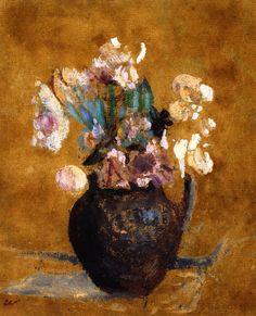 Vase of Flowers / Edouard Vuillard