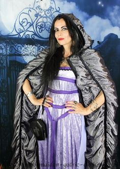 Lily Munster Cloak by Moonmaiden Gothic Clothing UK