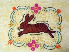 bunny embroidery : pattern