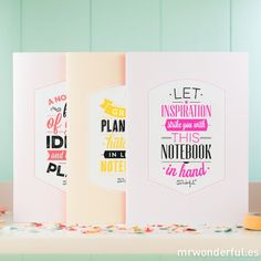 "Carnets ""Stunning notebooks for the best ideas"" ( - Mr. Wonderful"
