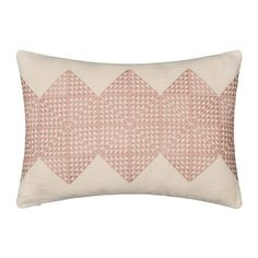 Buy the Geotile Cushion - - Dusky Pink & Ivory Linen from Niki Jones at AMARA. Pink Cushions, Bed Cushions, Scatter Cushions, Throw Pillows, Handmade Cushions, Decorative Cushions, Cushion Pads, Cushion Covers, Cushion Cover Designs