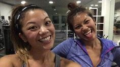 #bbg1week4 legs & cardio  If you're following us on snapchat I probably sent this to you already as my check in hehe  flooding your social media outlets muahaha  Today's workout was EXTRA tough because of #deathbylilfitty yesterday  Miss you San Diegans already!!!!  #bbgsisterwithdrawals  #postworkoutselfie for @avaebbg @chelsea_bbg @danidee19 @jessng_bbg! Tagged ladies you're up!!  by yensisters