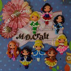 Set of Winter Princess Polymer Clay