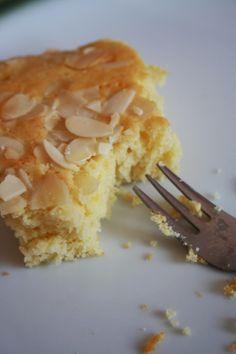 Mandelbutterkuchen / bizcocho de almendras y mantequilla