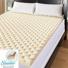 slumber solutions big bump 4inch memory foam mattress topper size queen