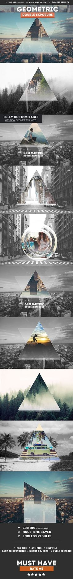 Geometric Double Exposure Photoshop Creator - Photo Effects Actions. Photoshop tips. Nordic360.