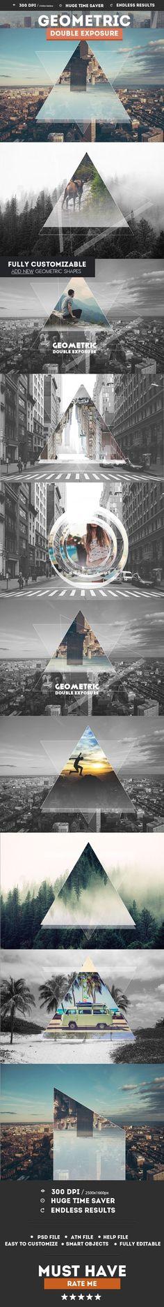 Geometric Double Exposure Photoshop Creator - Photo Effects Actions. Photoshop tips. Nordic360.