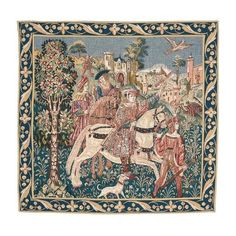 Buy Departure from the Castle Tapestry Woven Wall Hanging, Tapestry Wall Hanging, Tapestry Online, Bayeux Tapestry, English Heritage, 11th Century, Medieval Times, Tapestry Weaving, Jacquard Weave